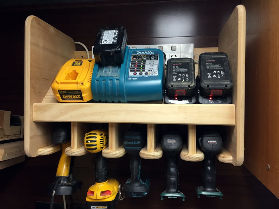 Cordless Drill Storage Charging Station Workshop
