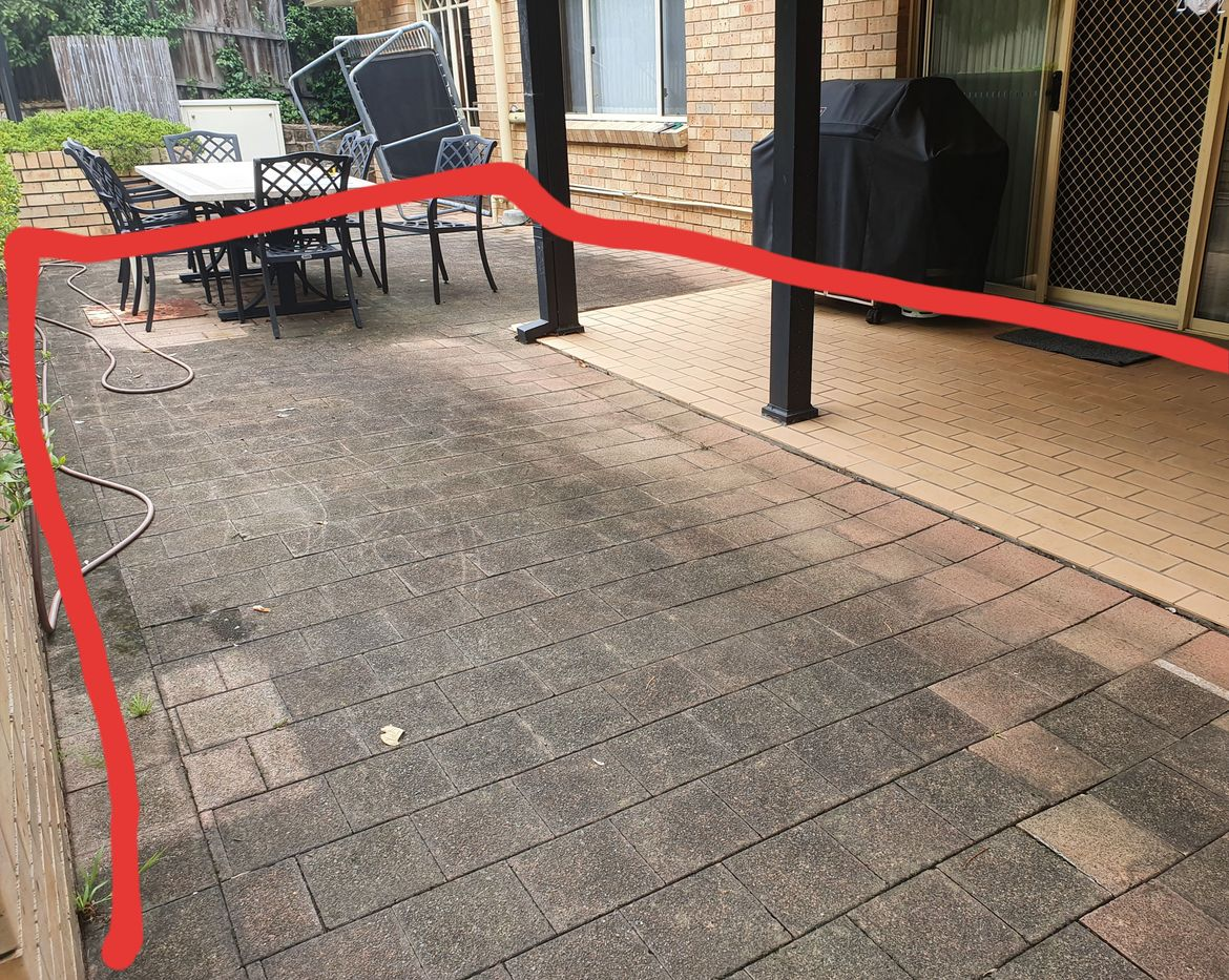 Existing paved area from other side