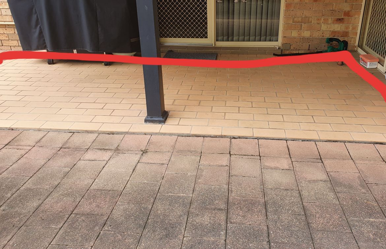 Existing tiled verandah on slab