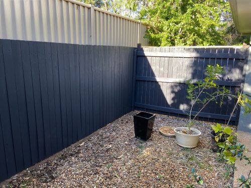 After: back and side neighbour fence