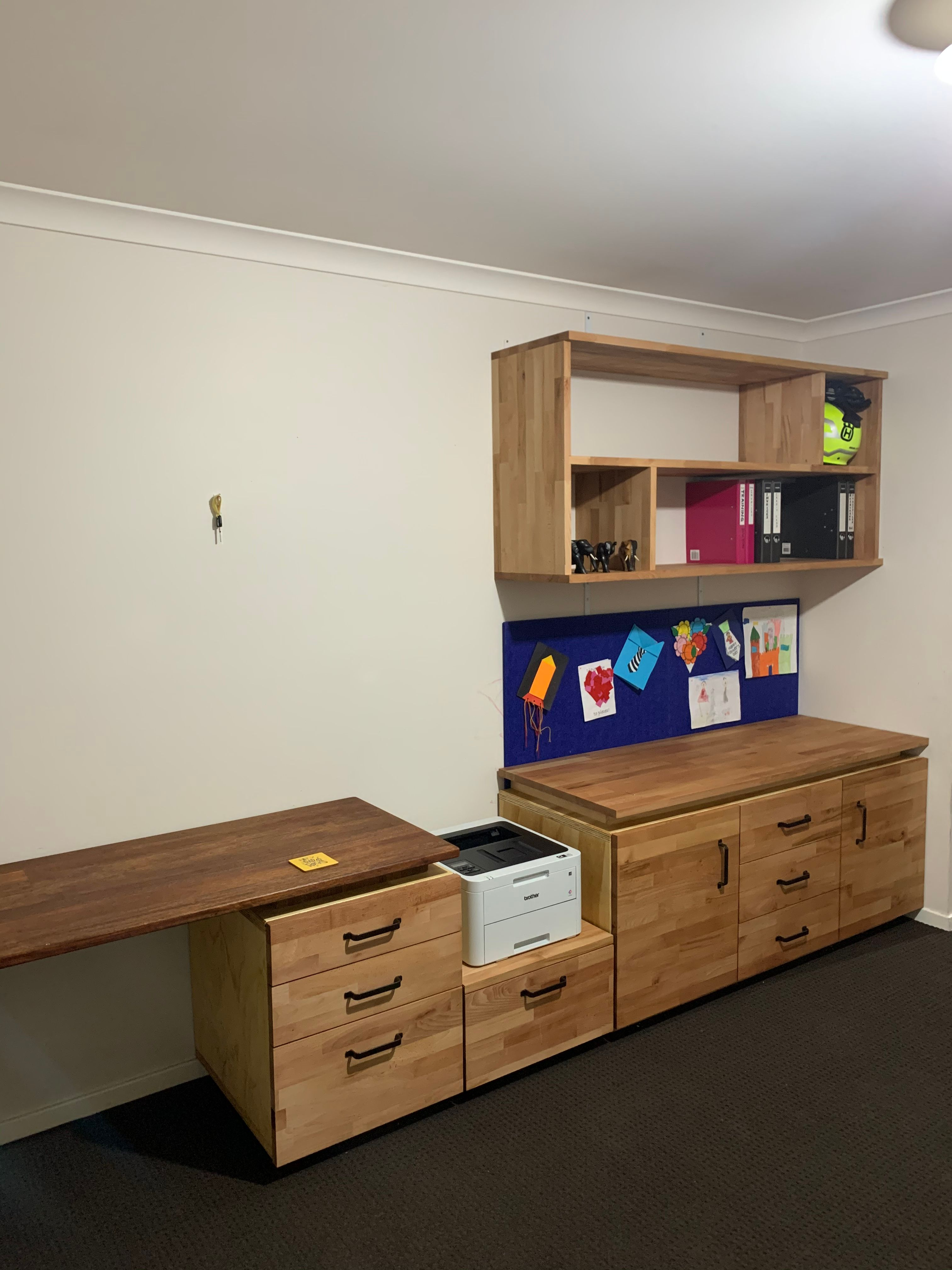 Study desk with project panels | Bunnings Workshop Community