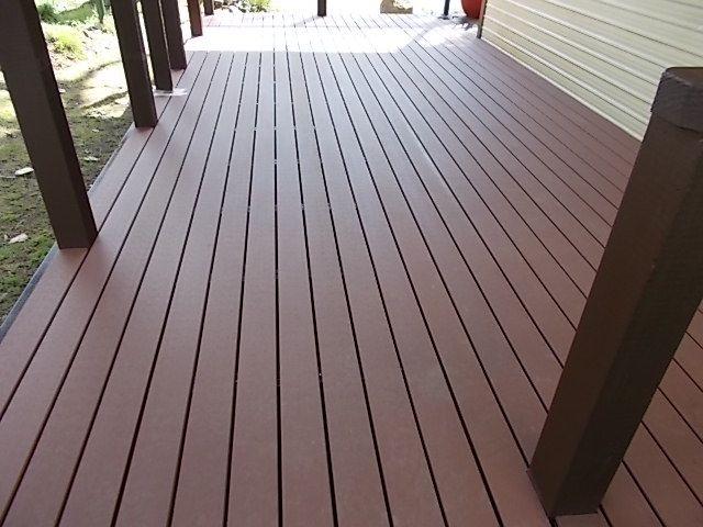 New deck using Ekodeck composite boards     - Workshop