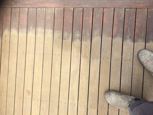 Hand sanding begins on the edges