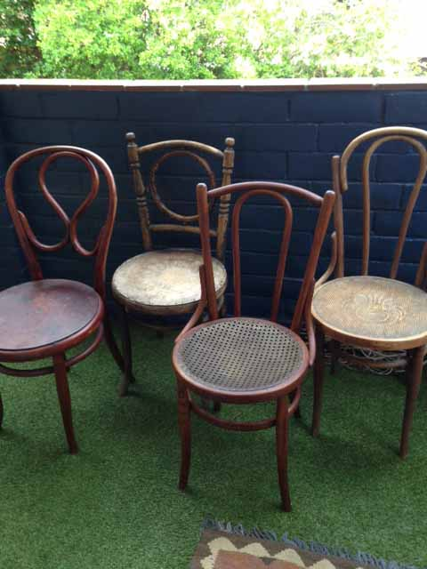 4 chairs.JPG & Bentwood Chair restoration project - Workshop