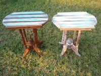 2x coastal shabby chic tables