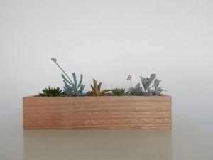 Wooden Succulent Planter