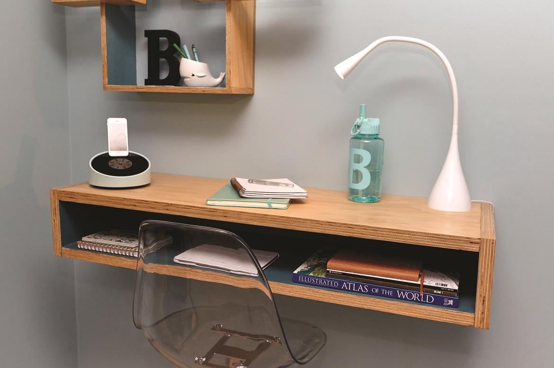 diy floating study desk workshop. Black Bedroom Furniture Sets. Home Design Ideas