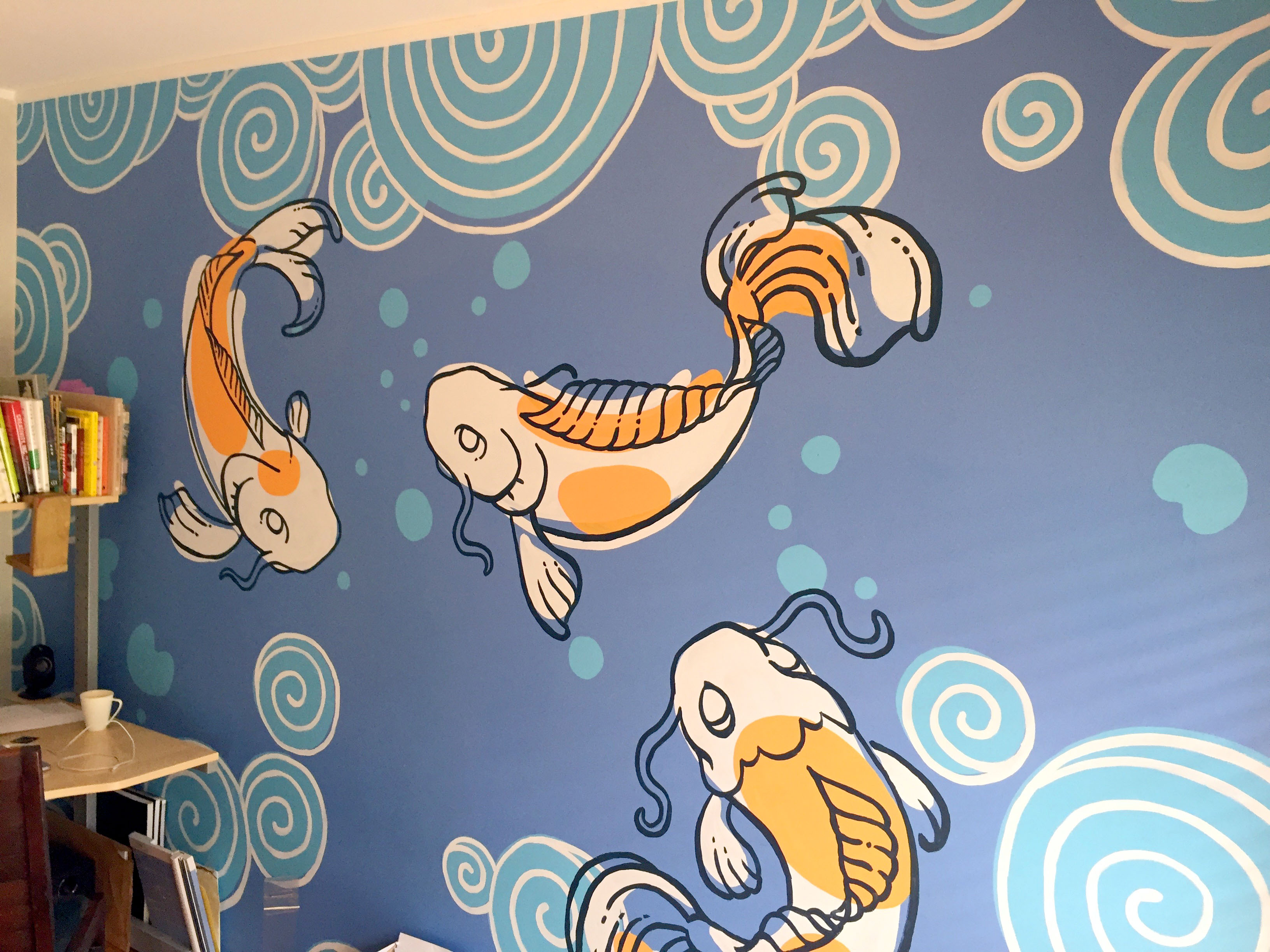 Swimming fish - mural