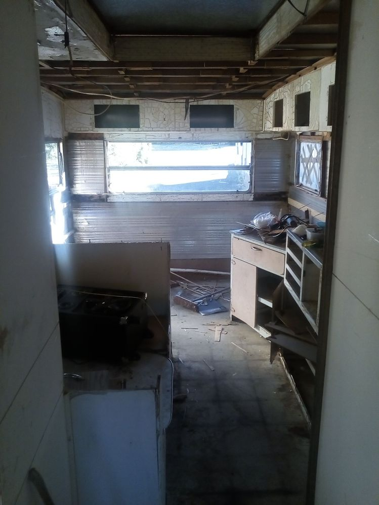 Looking into living area from bedroom