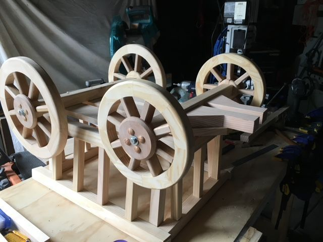 fitting wheels and turntable