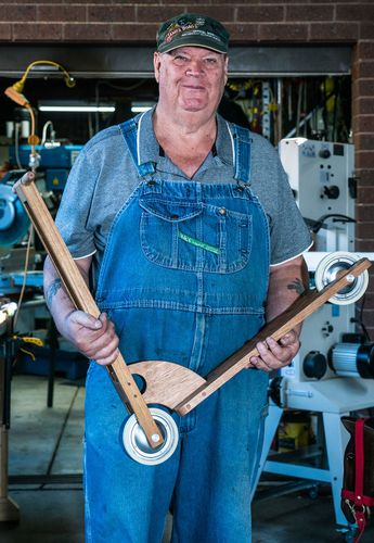 Ron Rowe enjoys making traditional wooden toys.