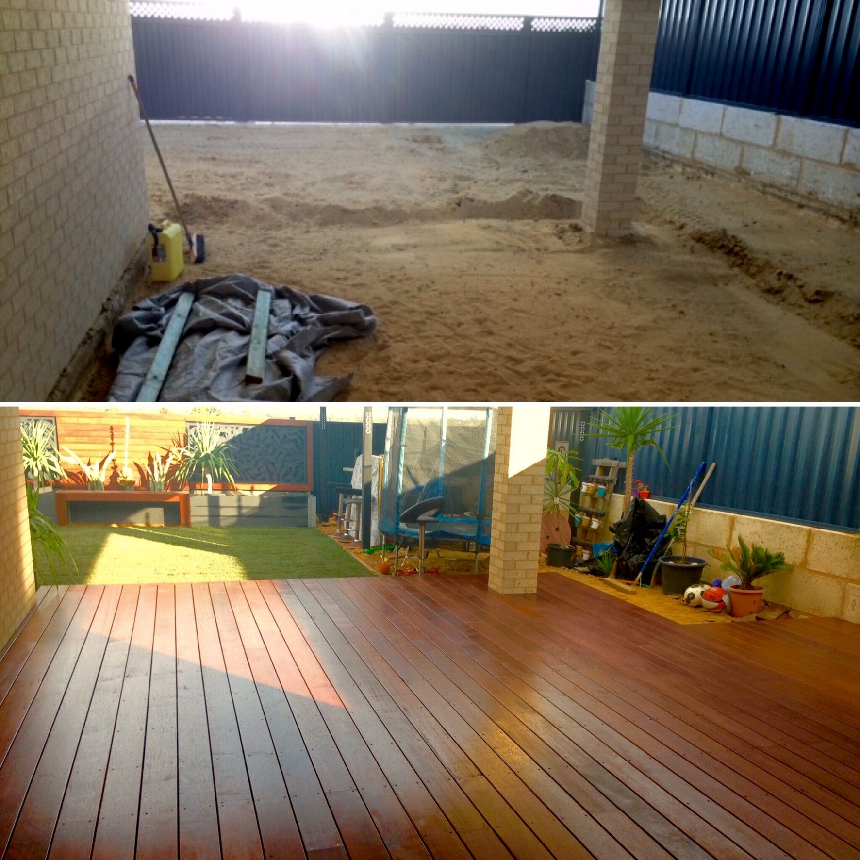 Backyard Transformation Before After: Solved: Backyard Transformation
