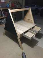 Craft play table with handy storage drawers