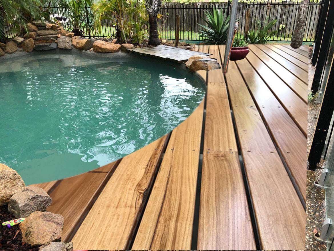 Make sure that the ground is sloped and has proper drainage so water will not pool under the deck.