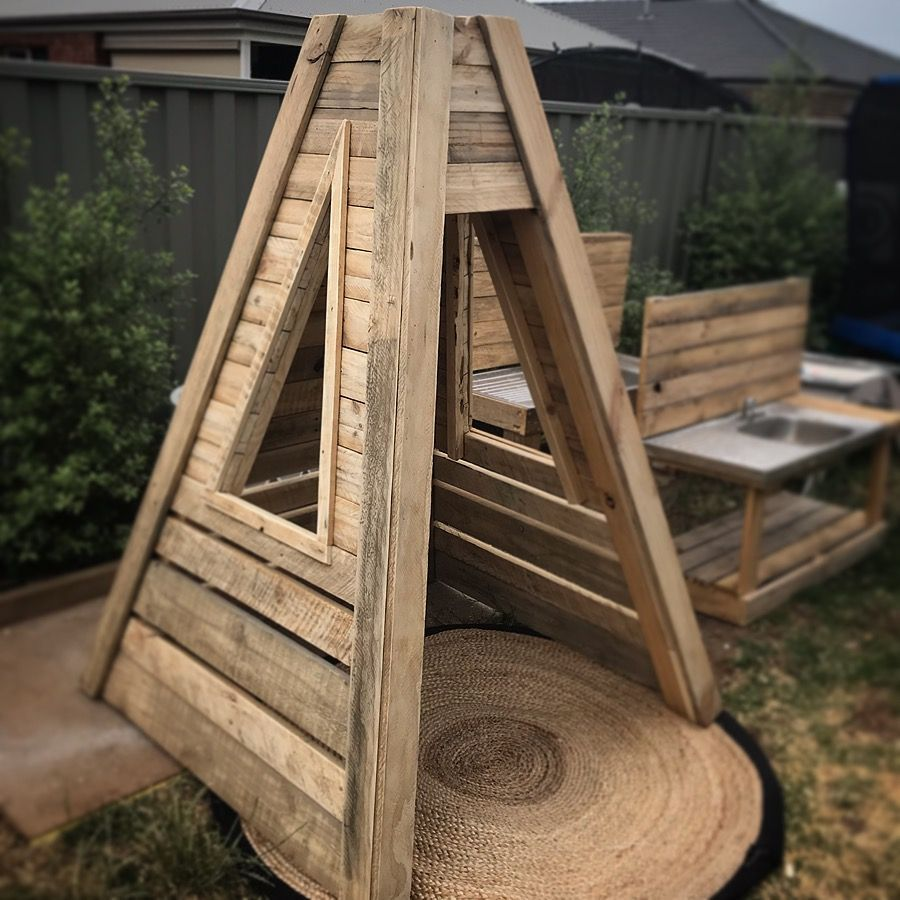 Kids TeePee made from Pallet Timber