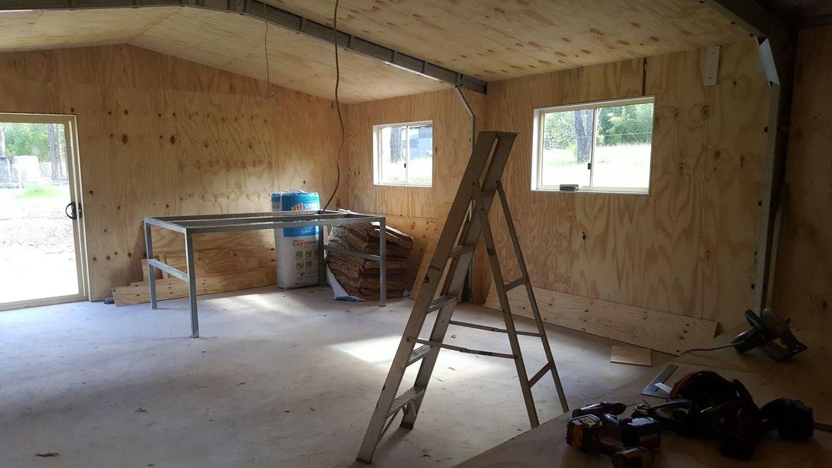 windows boxed, trim to come