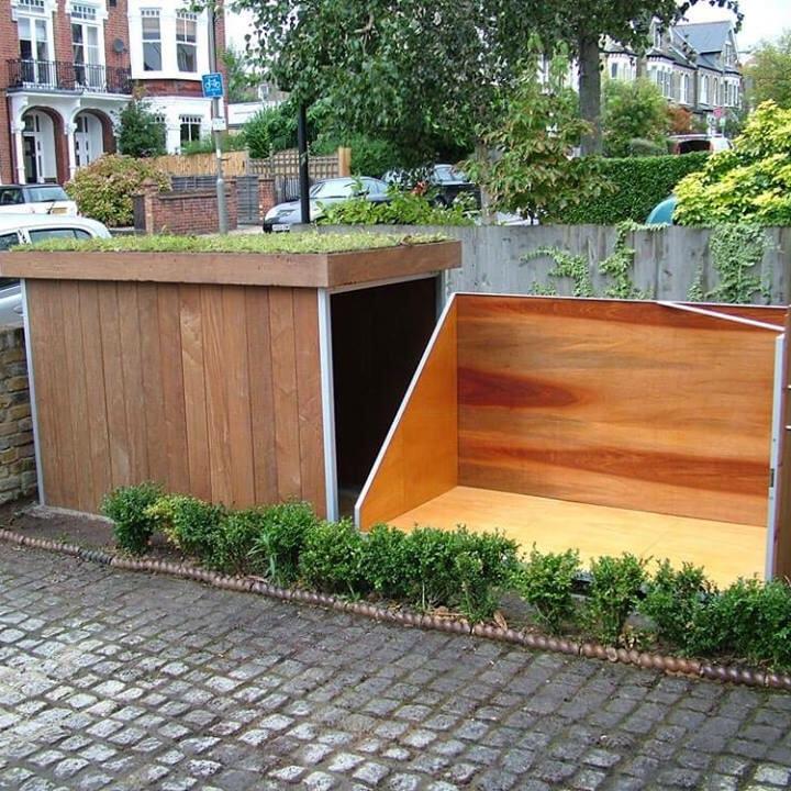 Timber Bike Storage Box Inspiration