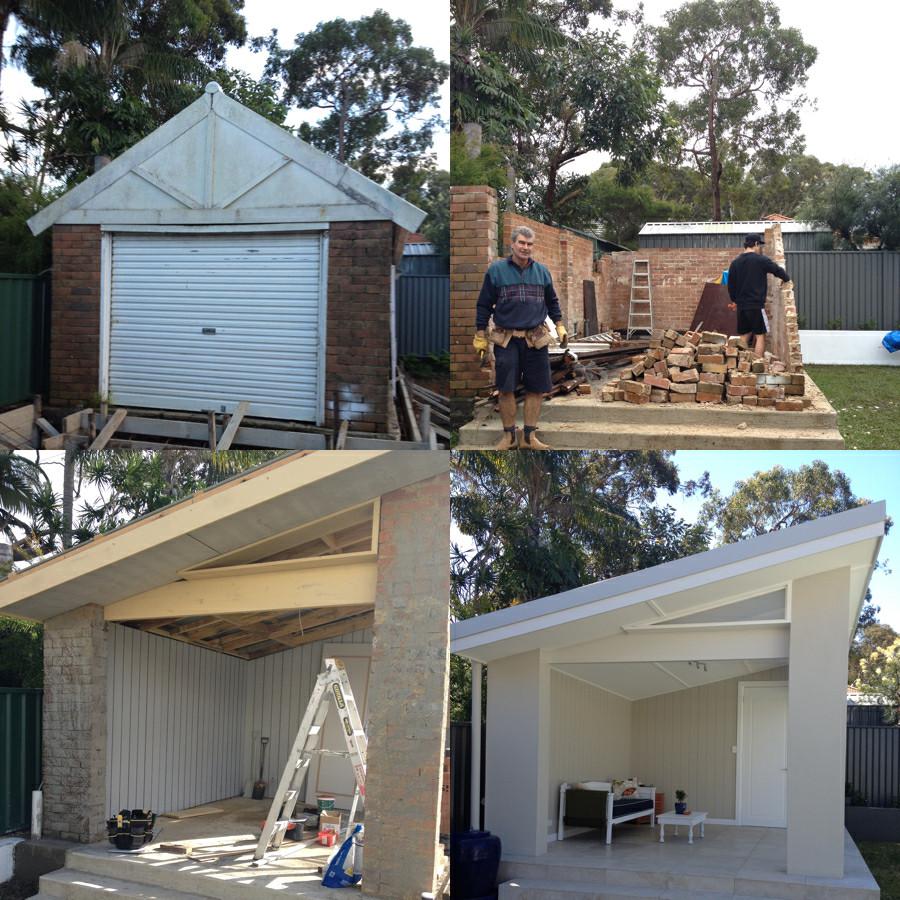 Garage To Pool Cabana Conversion